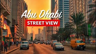 Abu Dhabi street view and driving around the city