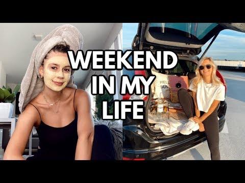 WEEKEND IN MY LIFE: rooftop picnic, loungewear haul, trader joe's trip + grocery haul