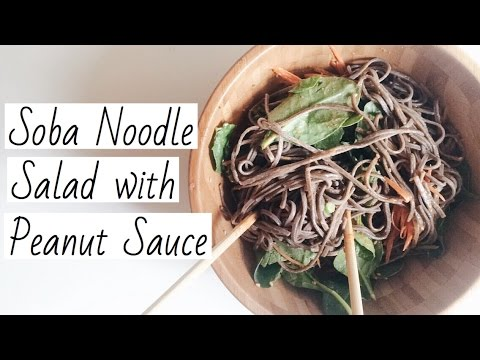 Vegan Soba Noodle Salad with Peanut Sauce