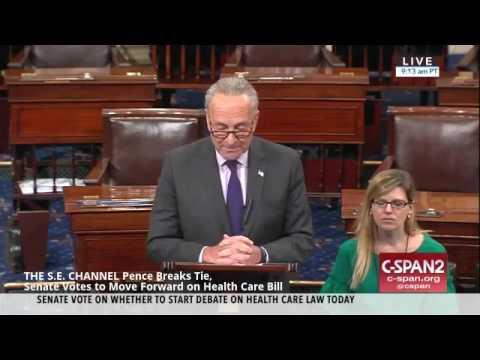 Pence Breaks Tie, Senate Votes to Move Forward on Health Care Bill
