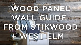 Wood Paneled Wall Guide From Stikwood + West Elm