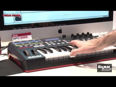 NAMM 2014 - AKAI MPK Mini and MPK225 Controller Keyboard