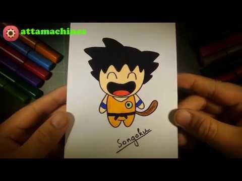 How to draw songoku ( Vẽ songoku )