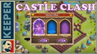 Castle Clash (54. rész) 6000 gem talent roll . + Santa Boom fapfap