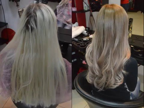 Омбре, балаяж, шатуш, жемчужный блонд. Ombre, balayazh, shatush, pearl blond from Inessa Myatenko