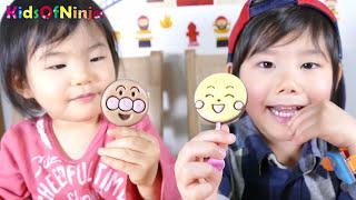 アンパンマン ペロペロチョコ ❤ メルヘンチョコ x ガチャマシン Japanese Anpanman Lollipop Chocolates and Gacha Toys Kids Review thumbnail