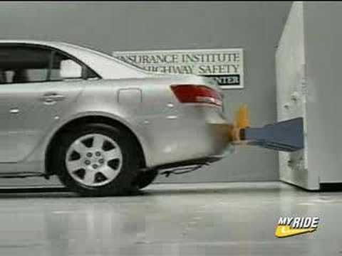 Bumper Crash Test 2007 Hyundai Sonata Youtube