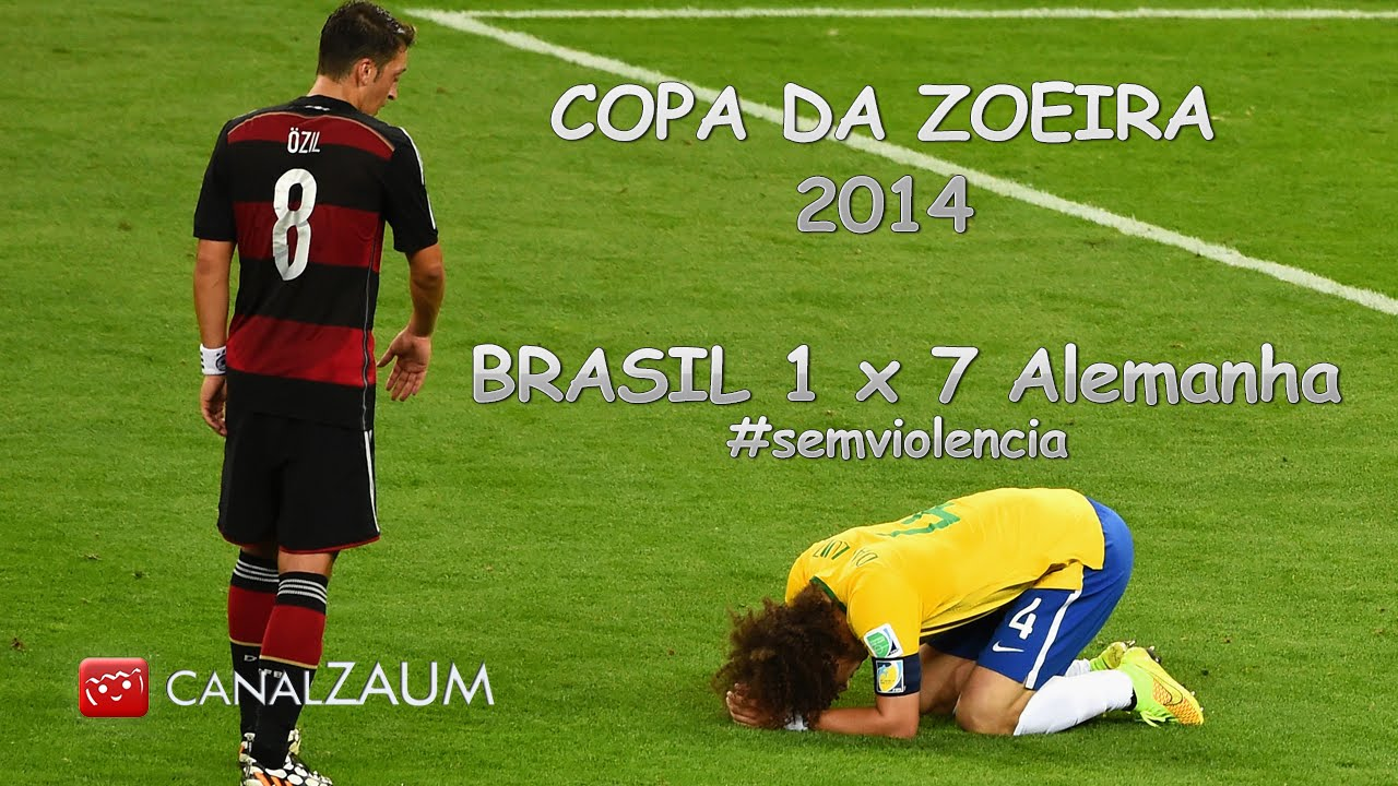 Brasil 1 x 7 Alemanha - Copa da Zoeira 2014  SemViolencia - YouTube 3cd2159b0af7d