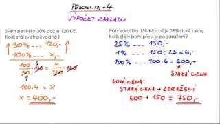 Procenta 4 - výpočet základu