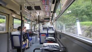 せとうちバス 車内風景と車窓 マイントピア別子発 Setouchi Bus (2018.9)