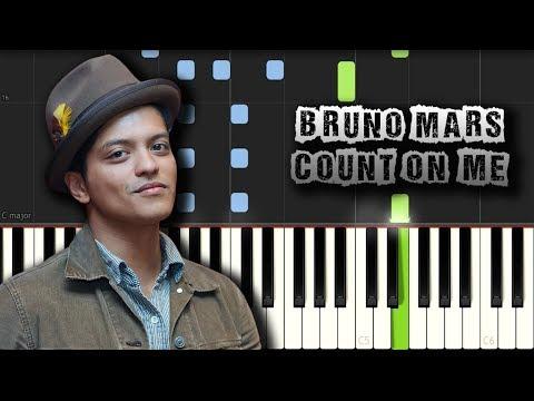 Bruno Mars - Count On Me - [Piano Tutorial] (Synthesia) (Download MIDI + PDF Scores)