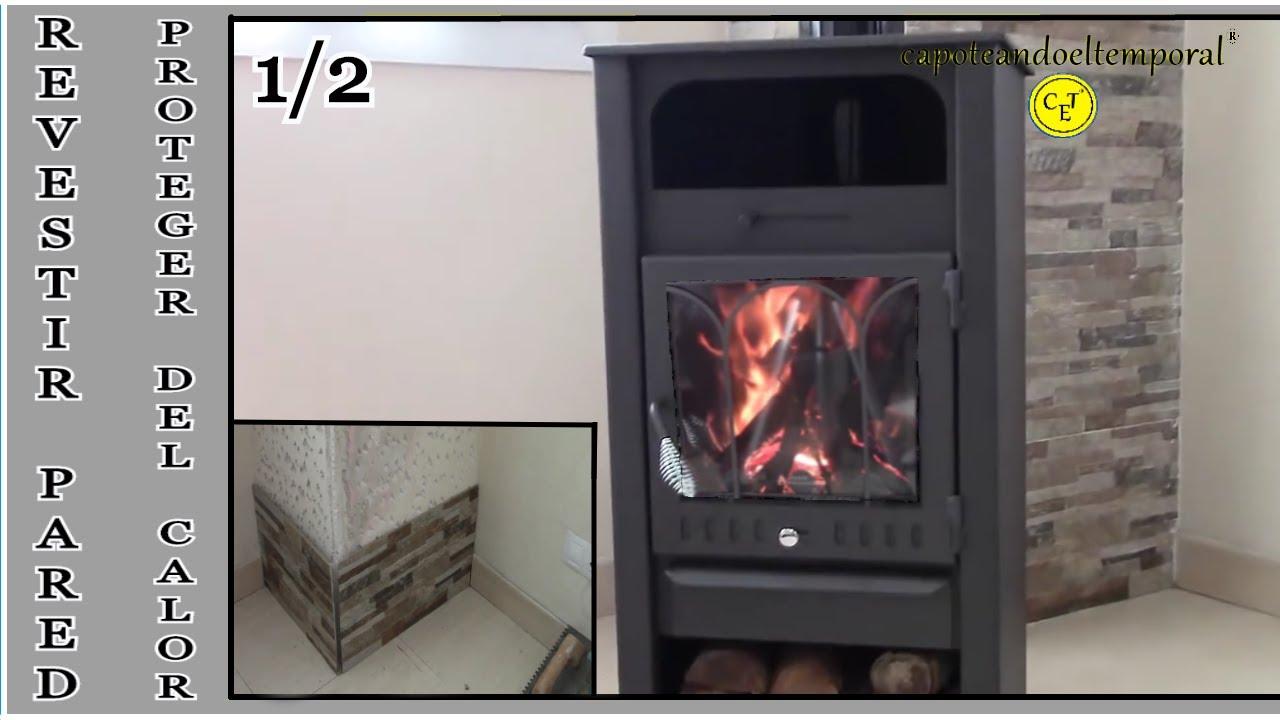 Como revestir una pared para colocar una estufa de le a - Como colocar una chimenea de lena ...