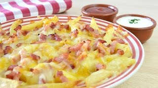 Patatas Fritas Estilo Foster´s Hollywood | Bacon Cheese Fries