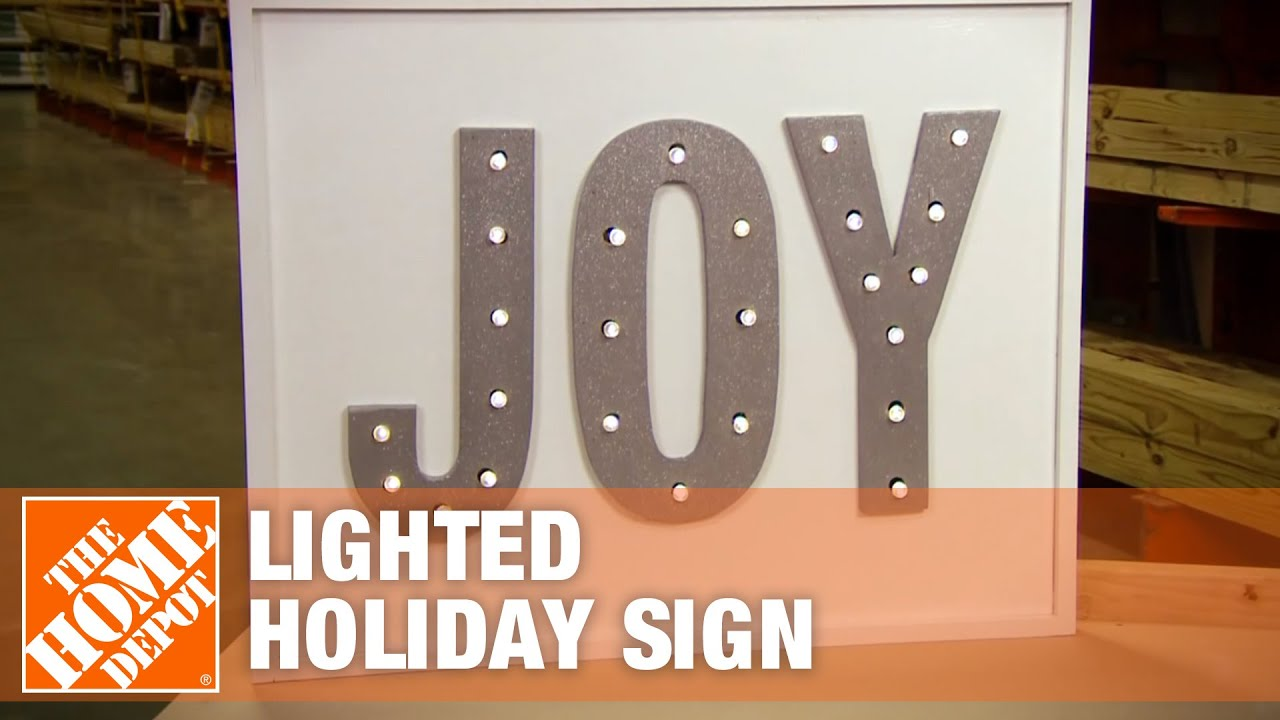 How to Make a Lighted Holiday Sign - The Home Depot