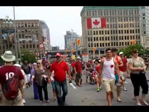 Canada Day 2013 Walking around downtown Ottawa and enjoying the sights part 1/2