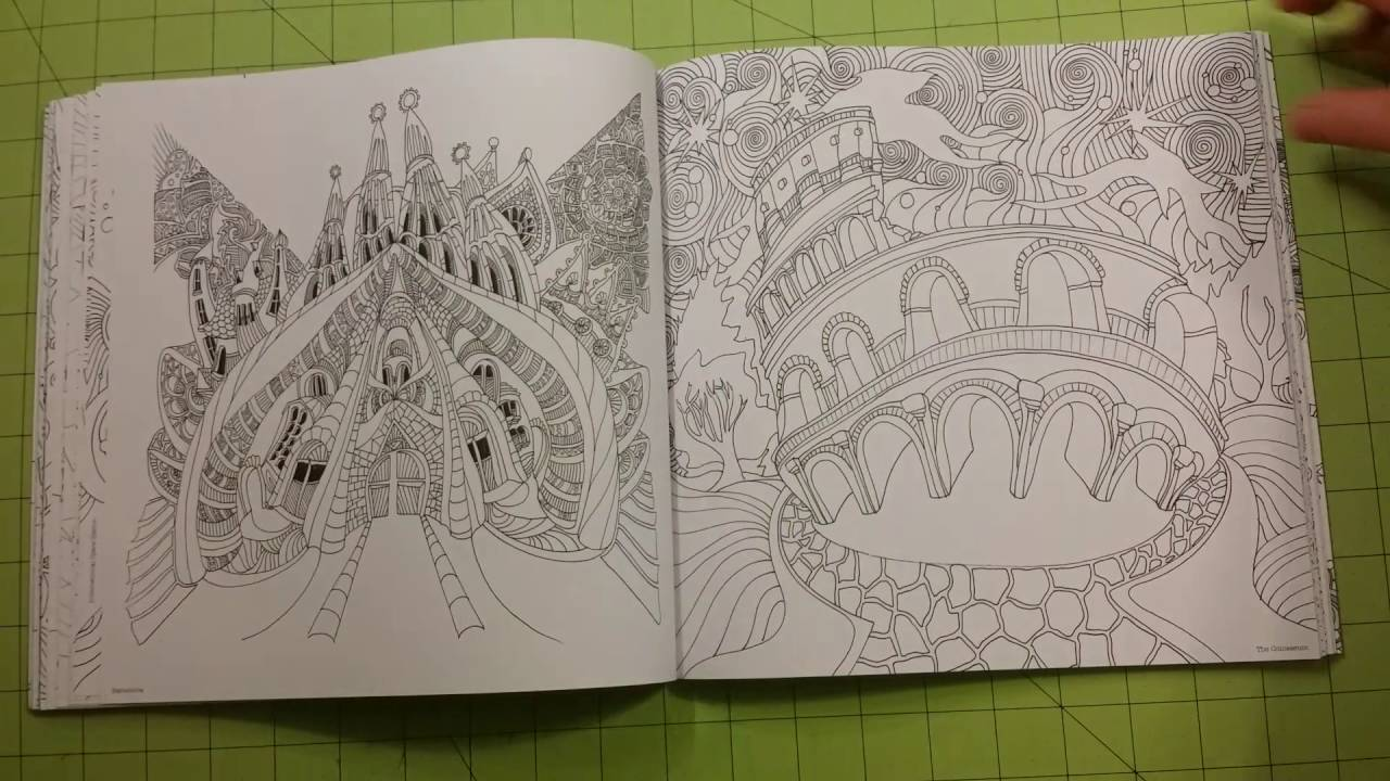 The Magical City Adult Coloring Book Review Flip Through Lizzie Mary Cullen