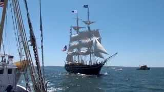 CHARLES W MORGAN on 1st Sail in 90 years - June 7, 2014