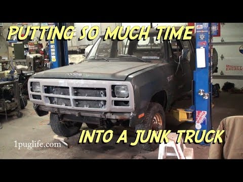 driveshaft and rad support(project 83 crew cab cummins)