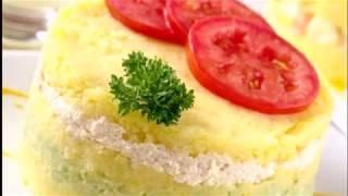 Картофельное пюре, запеченное с сыром.