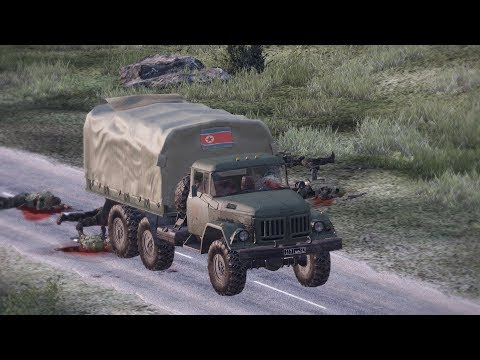 arma-3:-convoy-ambush-(japan-army-vs-north-korean-army)