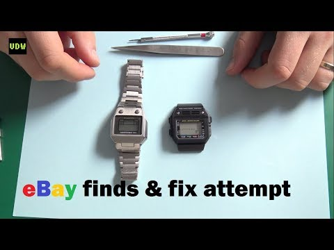 LCD Watch Fix attempt - Ep 43 - VintageDigitalWatches