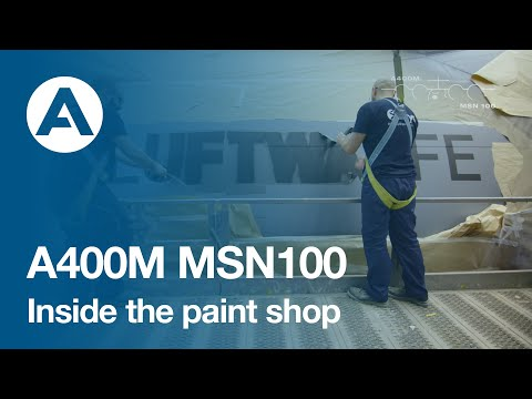 22. How to build an A400M - Inside the paint shop