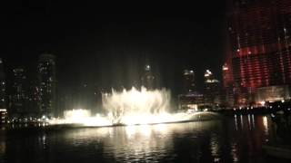 Dubai Fountain Show 02-Dec-2013 Arabic track