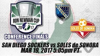 Western Conference Finals Game One - San Diego Sockers vs Soles de Sonora thumbnail