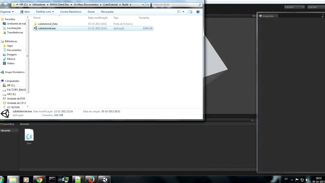 downloadunity3d tutorial 1 making a spinning cube androidpcflashweb player