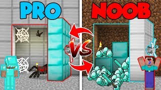 Minecraft NOOB vs. PRO : SECRET VAULT in Minecraft (Compilation)