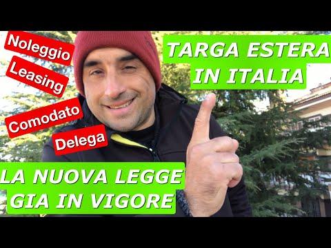 TARGA ESTERA IN ITALIA: LA NUOVA LEGGE SALVINI '18: Noleggi, Deleghe di Guida, Leasing