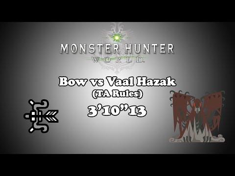 """[MHW] Bow vs Vaal Hazak - TA Rules - 3'10""""13"""