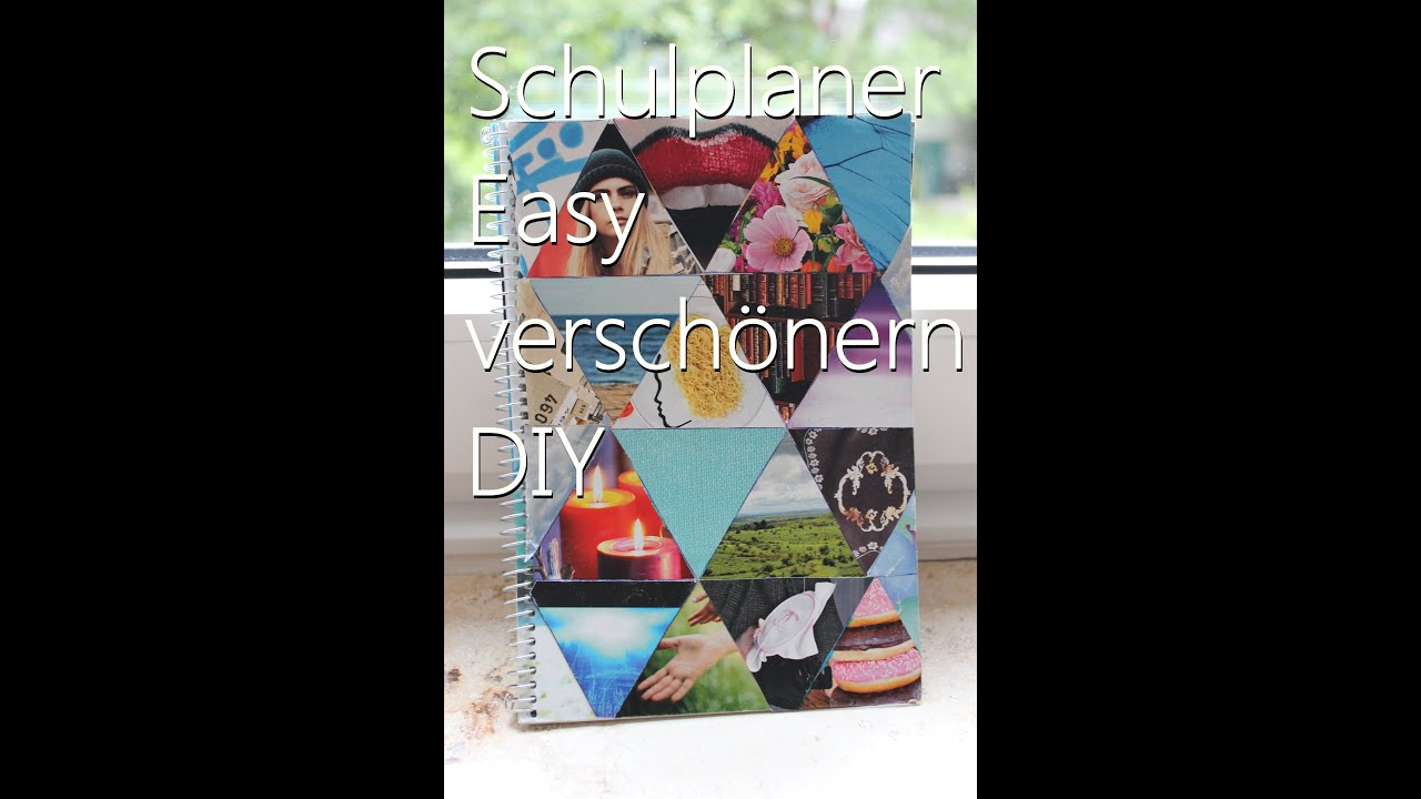 schulplaner easy sch ner gestalten diy youtube. Black Bedroom Furniture Sets. Home Design Ideas