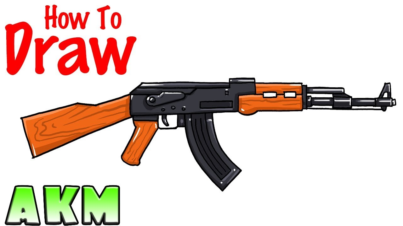 How To Draw AKM Rifle