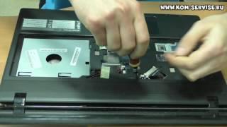 чистка от пыли, Замена термопасты и сборка ноутбука packard bell tx69