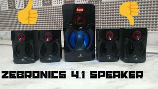 Unboxing & Review Of Zebronics BT4440 4.1 Channel Bluetooth Speakers