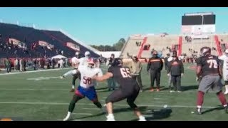 Gambar cover 2020 Senior Bowl Practice Day 1 O-Line vs D-Line || Pass Rush Film Breakdown