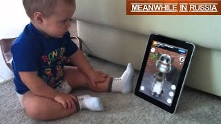 Kid Speaks With Talking Tom Cat
