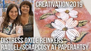 Distress Oxide Technique Reinkers and PaperArtsy glaze Scrapcosy at Creativation 2019