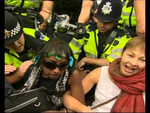 Caroline Lucas arrested at Fracking Protest