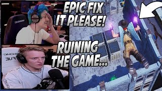 Ninja & Tfue Are ANGRY About The Newest Glitch In Fortnite RUINING All Their Games...