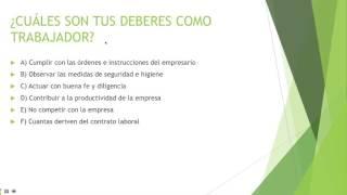 PARTE 03 FORMACIÓN Y ORIENTACIÓN LABORAL (FOL) DERECHOS Y DEBERES DE LA RELACION LABORAL