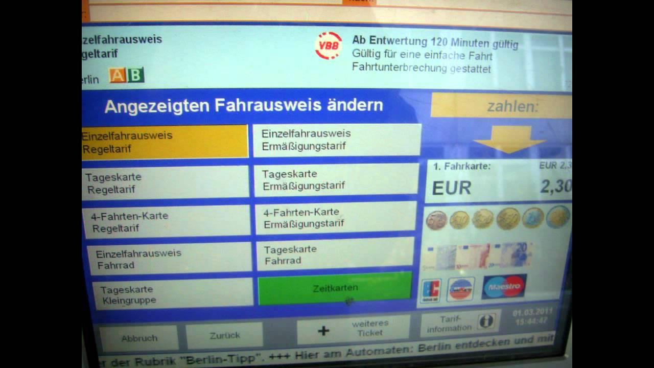 4 Fahrten Karte Bvg.Bvg Automaten In Berlin