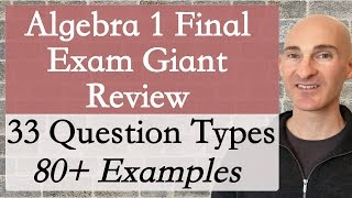Algebra 1 Final Exam Giant Review