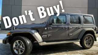 Don't buy a Jeep Wrangler!
