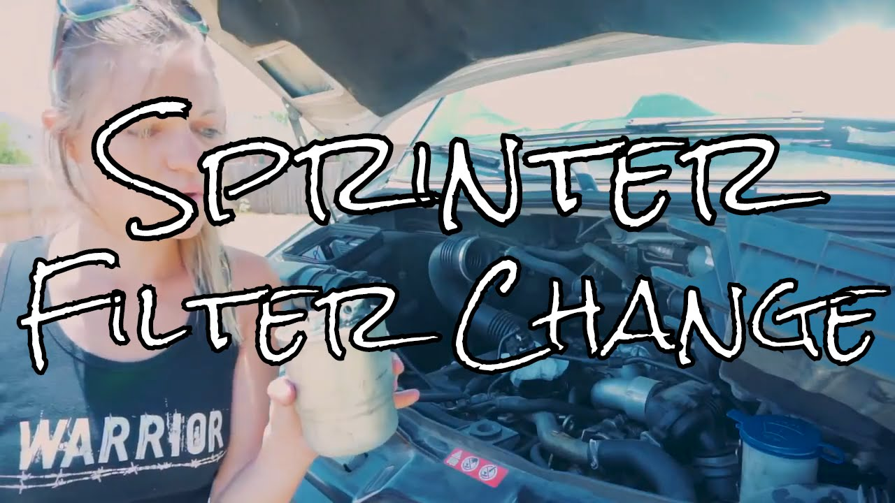 how to change the fuel filter and air filter on a sprinter [ 1280 x 720 Pixel ]