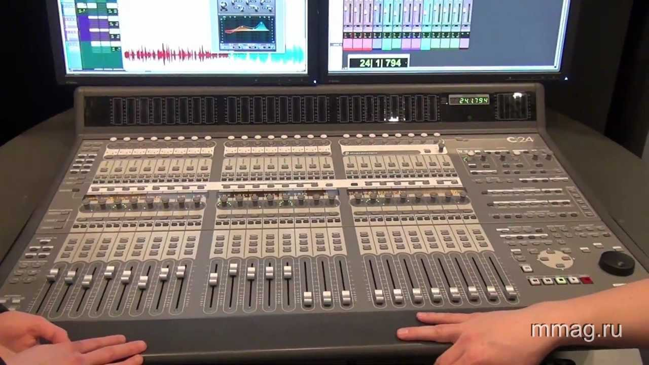 mmag ru: Musikmesse 2012 - Avid Pro Tools 10 and C|24 control surface video  review