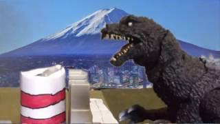 SH Monsterarts Stop Motion: Godzilla 2001 Against Kiryu 2003