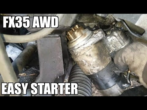 "03-08 Infiniti FX35 Starter Replacement ""How to"""