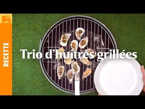 Trio d'huîtres grillées